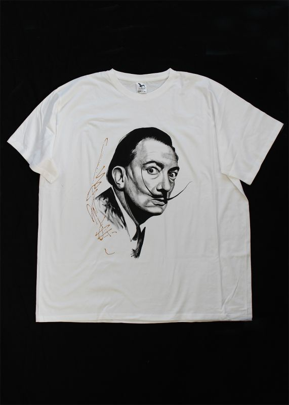 Painted T-shirt Salvador Dalí