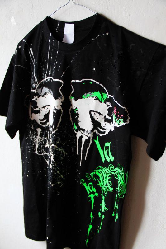 Ručne maľované tričko Vlci