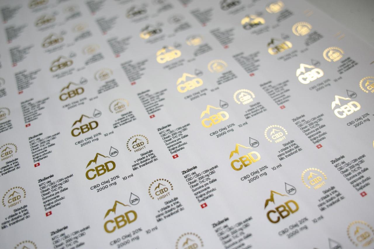 Etiketa na CBD