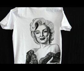 Maľované tričko Monroe