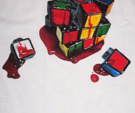 Painted T-shirt Rubic cube
