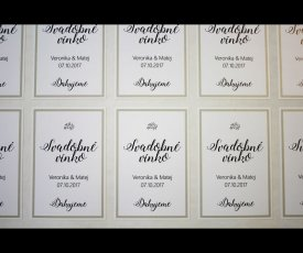 Wedding labels Veronika&Matej