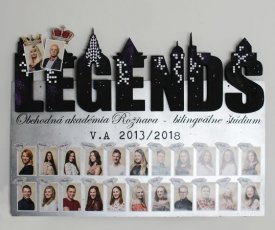 Painted graduation board booklet LEGENDS