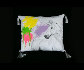 Painted pillow unicorn