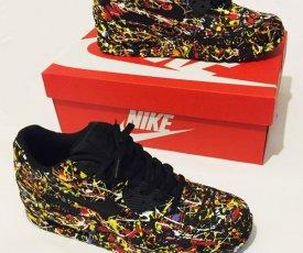 Painted sneakers Nike Air Max