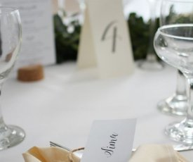 Wedding menus and labels