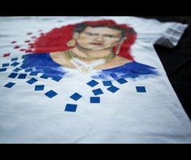 Ručne maľované tričko Frida Kahlo