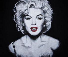 Hand painted T-shirt Marilyn