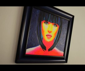 Painting on canvsa Cleopatra