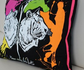 Painted pillow Tigers