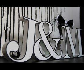 Svadobné písmo J & M