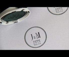 Svadobná pečiatka J & M