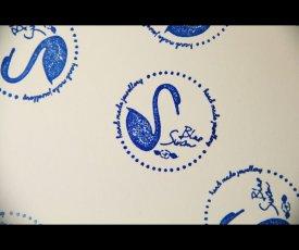 Pečiatka Blue Swan