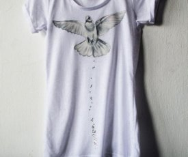 Painted T-shirt dove of Peace