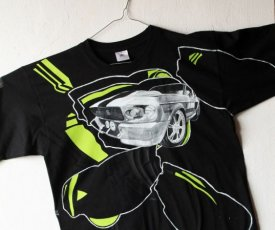 Painted T-shirt Shelby lime green