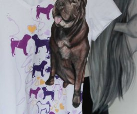 Painted T-shirt Shar Pei