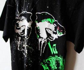 Maľované tričko Vlci