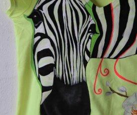 Painted T-shirt Zebra