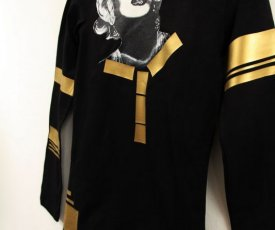 Painted T-shirt Marilyn Monroe Goldie