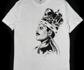Painted T-shirt Mercury Queen
