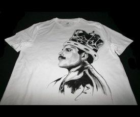 Maľované tričko Freddie Mercury