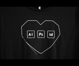 Painted T-shirt Adobe Love