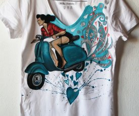Painted T-shirt Vespa