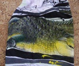 Maľované tričko beštia